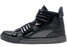 Czarne buty męskie Denley 3001