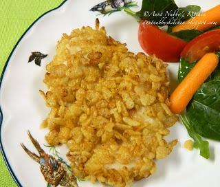 Baked Rice Krispie Chicken