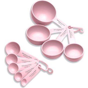 Pink KitchenAid Measuring tool set