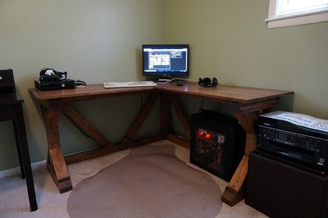 Custom 75 Diy Desk Plans And Walkthrough Shabby