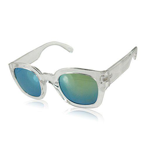 Casual Fashion Square Frame Brille Klassische Retro-Brillen Weiß
