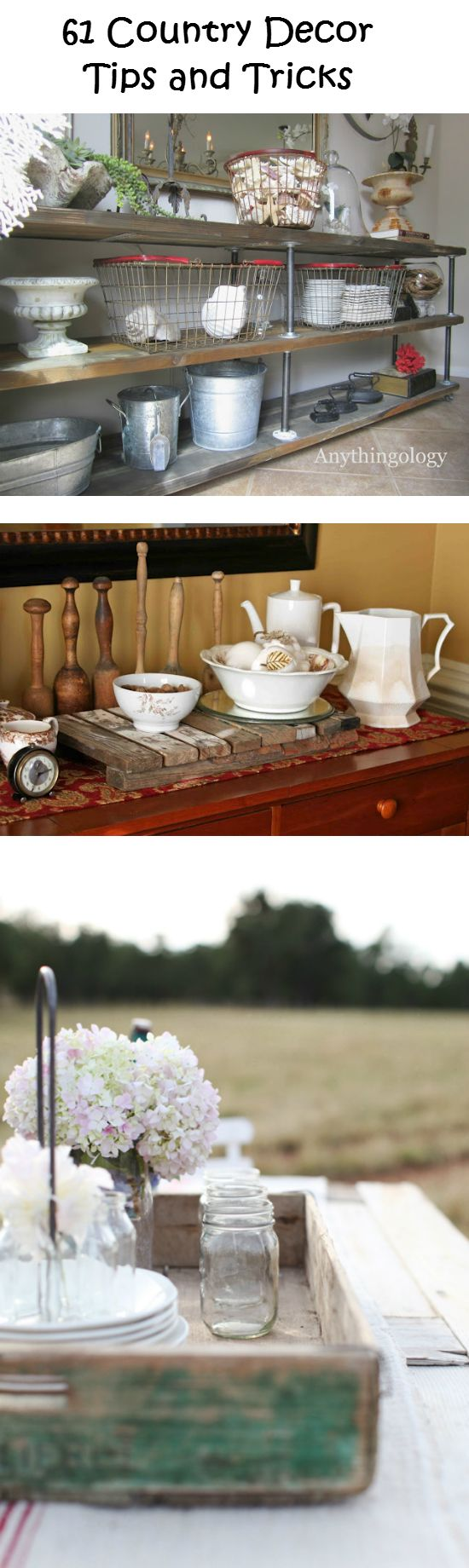 61 Country Decor Tips and Tricks just the top picture for the dining room