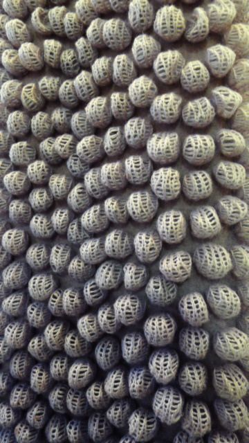 3D Textiles - bubble surface creation using shibori techniques to felt & dye machine knitted fabric - creative textile manipulation // Jeung-Hwa Park
