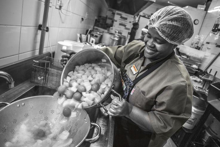 #JonssonWorkwear #Workwear #Women #chef #Kitchen `#Photography #Africa