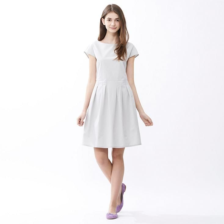 WOMEN CRISP COTTON SHORT SLEEVE DRESS  UNIQLO  Things With Style ...