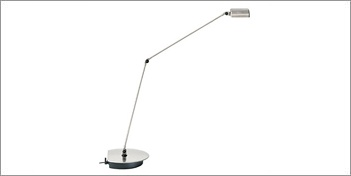 The Cloe is a classic table lamp from Lumina. The fixture has 2 light intensities. A pivoting arm and 360 degree rotating head. Designed by Tommaso Cimini. For more information on this Table Lamp visit the website.