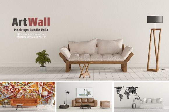 Art Wall Mock-ups Bundle VOL.1 by RD DesignStudio on @creativemarket