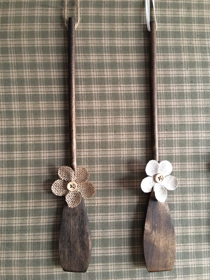 A personal favorite from my Etsy shop https://www.etsy.com/listing/516234573/farmhouse-spatula-with-burlap-flower