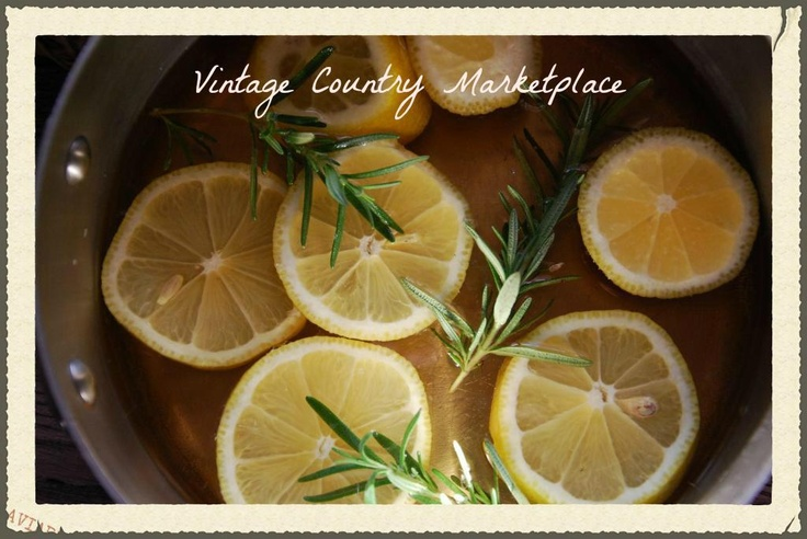 Vintage Country Style - William Sonoma Lemon Rosemary Vanilla DIY - wonderful potpourri    www.vintagecountrystyle.blogspot.com