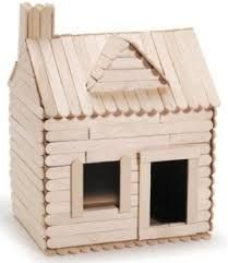 popsicle stick log cabin - Google Search