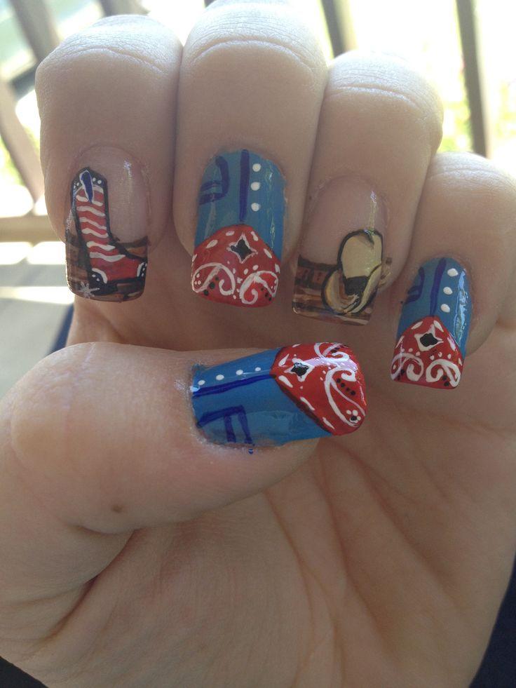 cowgirl nails nail art