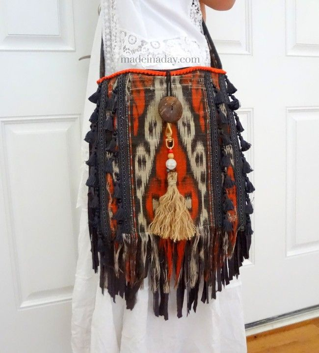 DIY Boho Tassel and Fringe Purse » Made in a Day
