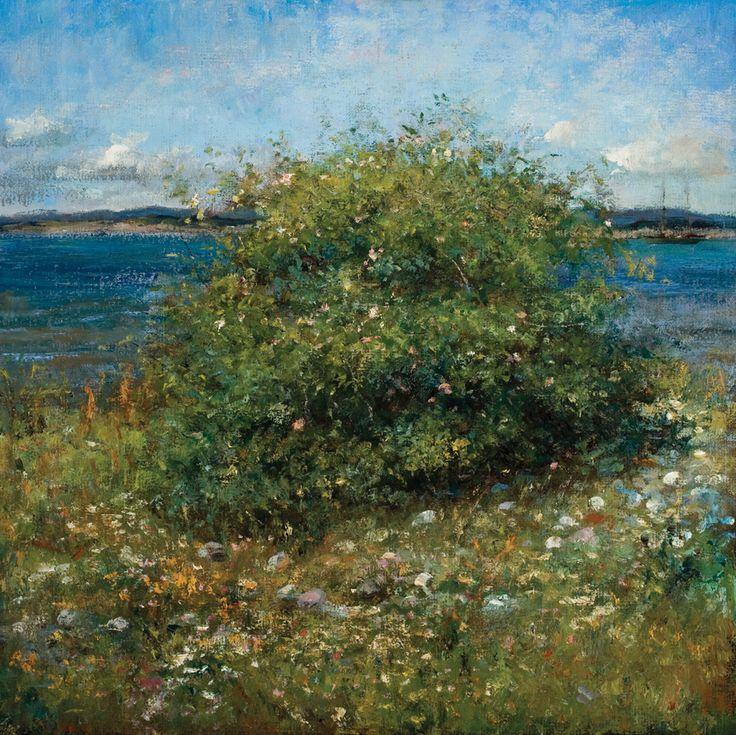 Jomfruroser/Virginroses, Oil on canvas by Jonny Andvik