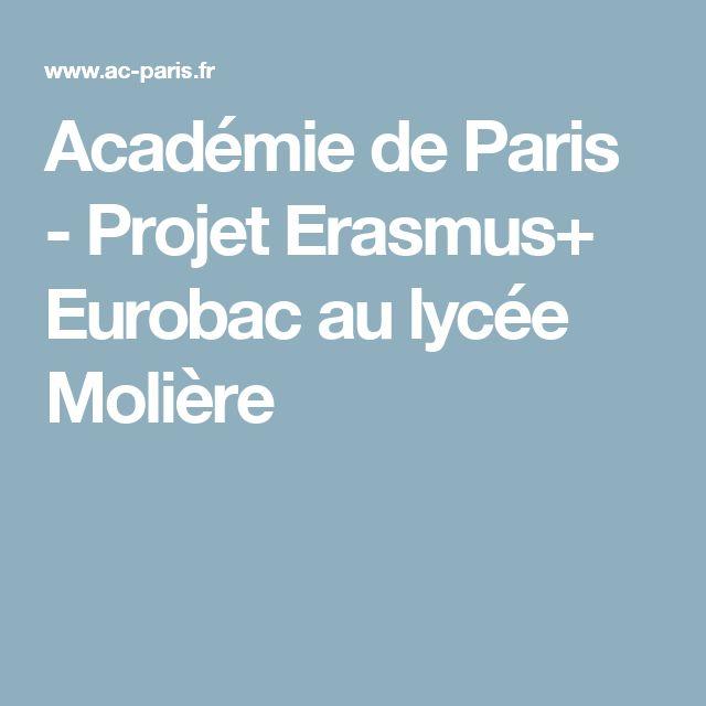 Académie de Paris - Projet Erasmus+ Eurobac au lycée Molière