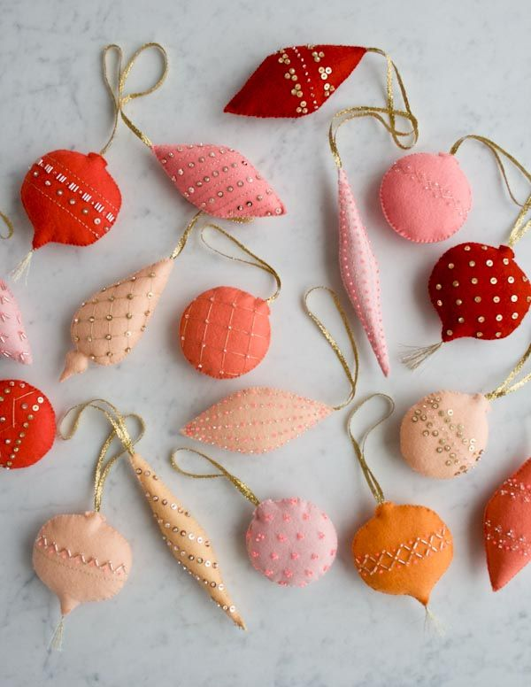 Heirloom Wool Ornaments | Purl Soho - Create Good ideas for Christmas decorations!!!