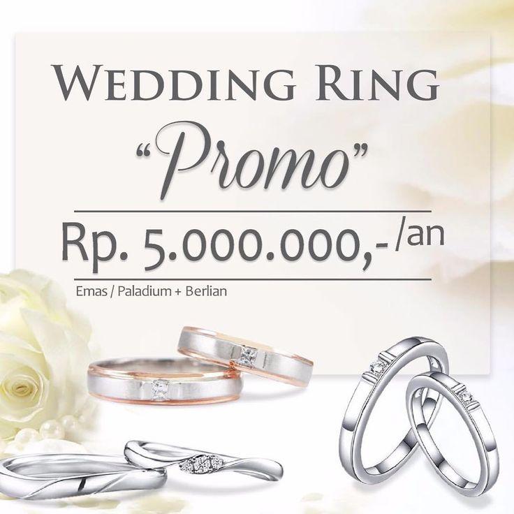 dapatkan PROMO terbaik dari V&Co Jewellery. sepasang cincin kawin cantik dengan harga 5.000.000an dengan material EMAS/PALLADIUM + BERLIAN . V&Co Jewellery juga hadir dengan cicilan 0%. Dapatkan cincin kawin PROMO ini dalam program cicilan.  Promo cincin kawin ini berlaku hingga 28 Februari 2017, grab it fast!