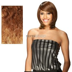 Equal (SNG) Band Full Cap Bounce Girl - Color OM8642 - Synthetic (Curling Iron Safe) Full Cap Wig