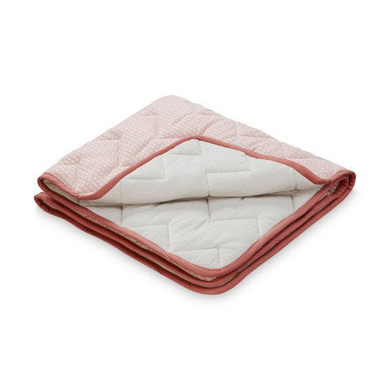 Baby Blanket Quilt Sashiko Blush Organic Cotton - CamCam Copenhagen  £45.00 avaliable at Claude & Co  https://www.claudeandco.co.uk/collections/bedding-blankets/products/baby-blanket-quilt-sashiko-blush
