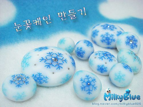 Snowflake cane tutorial in translucent polymer clay - a good thing the pictures are clear....