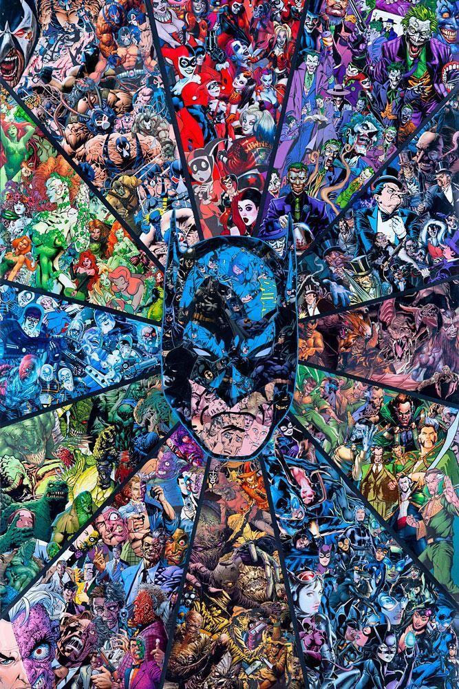 New Release Batman Villians By Mr Garcin Batman Artwork Batman Poster Batman Comics Colorful cool batman wallpapers
