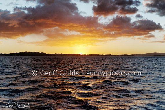 Ocean gold screensaver inspirational printable by GeoffsSunsetPics, $6.90
