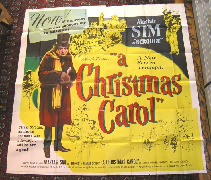 """Alastair Sim in """"A Christmas Carol"""". The best movie to watch on Christmas Eve, with a plate of ..."""