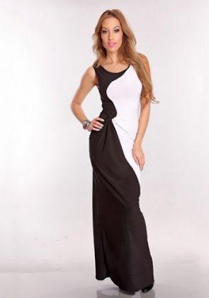 Black & White Maxi Dress - http://www.maxidressesonline.net.au/shop/black-white-maxi-dress/