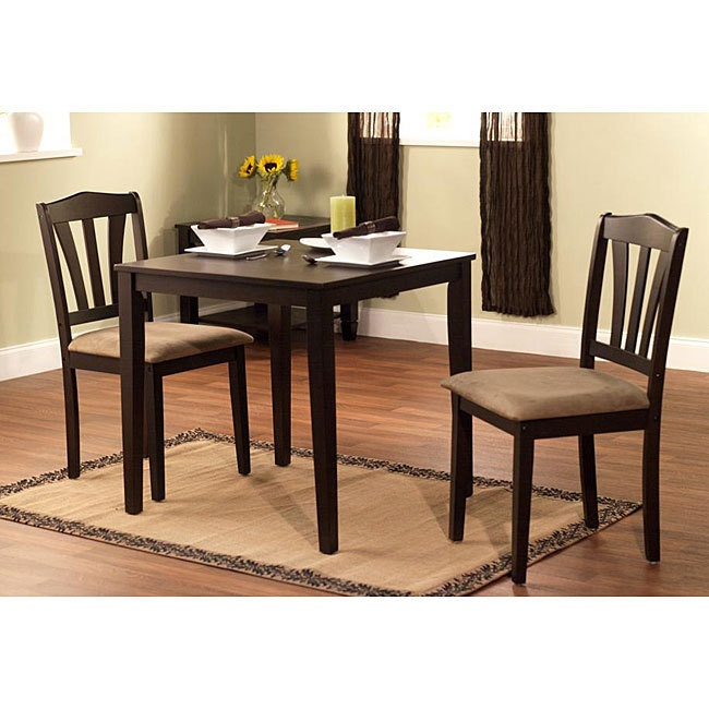 Modern brown 3 piece dining room table and chairs kitchen for 3 piece dining room table