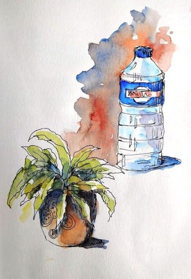 Bb Aquarelle Gribouillis Divers Miscellaneous Scribbles