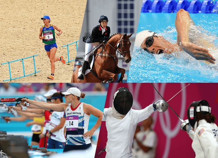 A classic contest played out in five acts: fencing, swimming, horse riding, shooting and running – with all the events taking place on the same day. Part of the Olympic Games since Stockholm 1912, modern pentathlon has men's and women's competitions.
