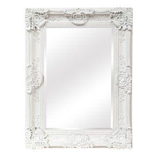 Mayfair Wall Mirror 35 5 X 48 X 3 5 Matte White
