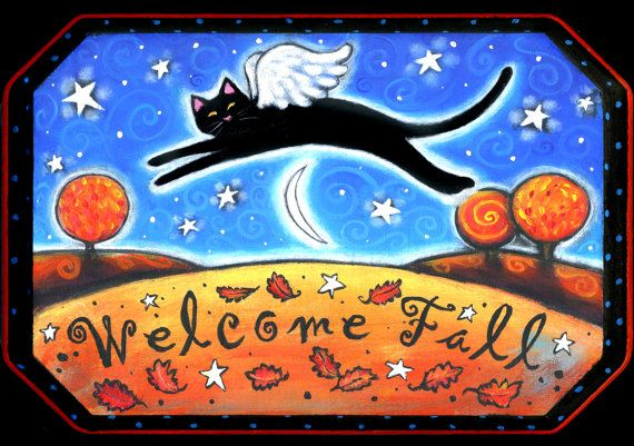 Welcome Fall   5x7 print  by Brenna White  by BlueLucyStudios