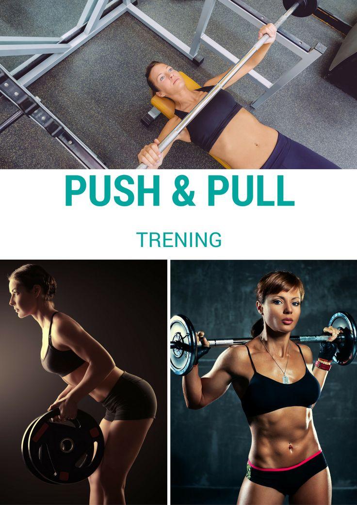 Trening push-pull to postać treningu dzielonego, który wykonuje się na siłowni z wykorzystaniem sprzętu sportowego, m. in. hantli i sztang. #workout #push&pull #trening #mięśnie