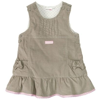 BORNINO RABBIT & DOG Cord-Kleid mit süßen Schleifchen, mit dem Ihre Tochter wie eine Prinzessin aussehen wird.