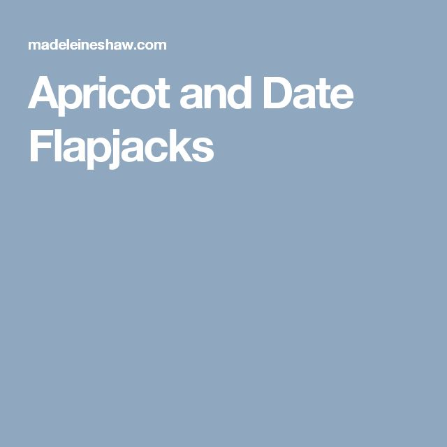 Apricot and Date Flapjacks