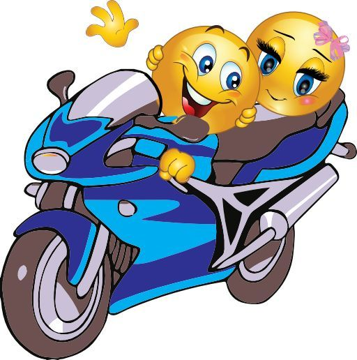 emoticon on motorbike - Google Search