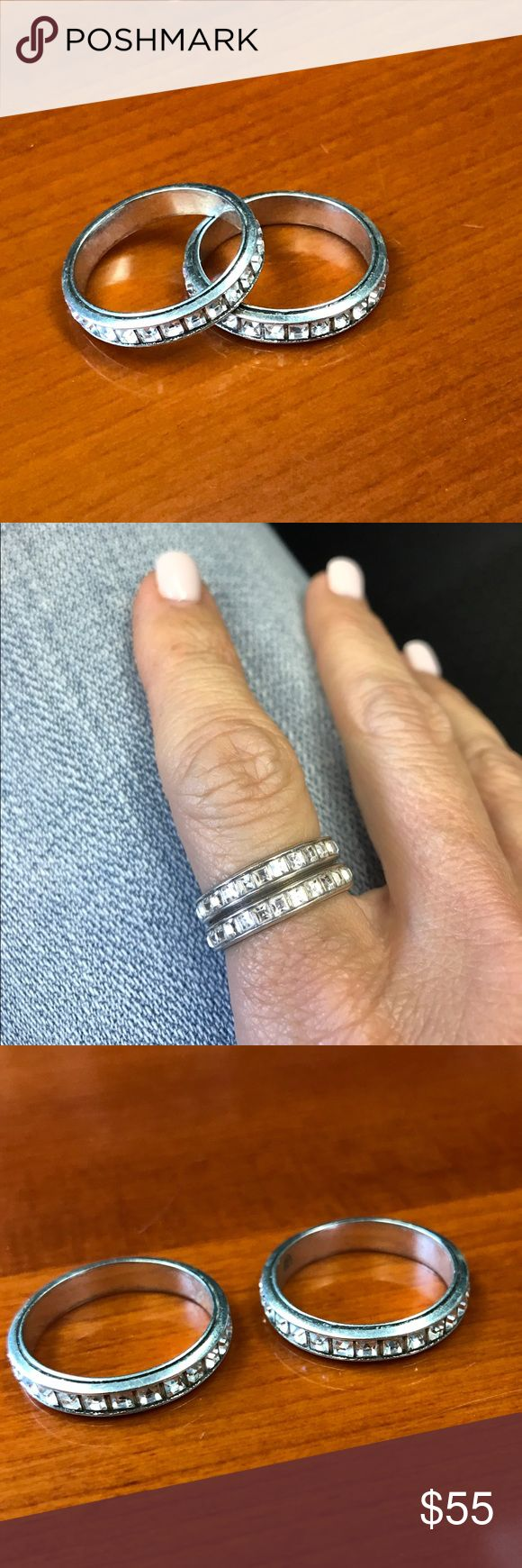 Pandora Rings Set of 2 Pandora rings. Size 7. Pandora Jewelry Rings