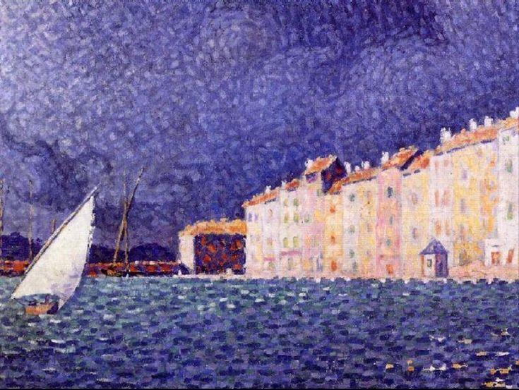 Saint Tropez, Oil by Paul Signac (1863-1935, France)