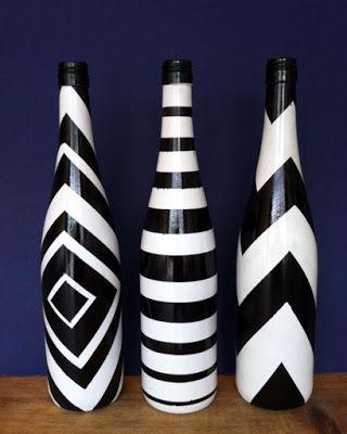 más y más manualidades: 6 originales técnicas para decorar con botellas de vidrio