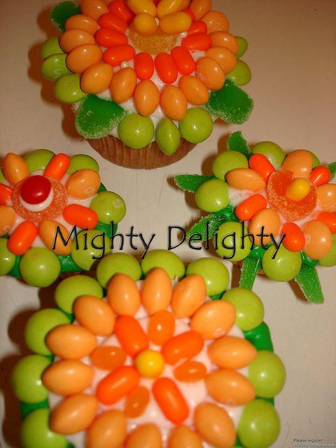 #YoYoBirthday  candy decorated cupcakes hawaiian theme by MightyMorgan, via Flickr