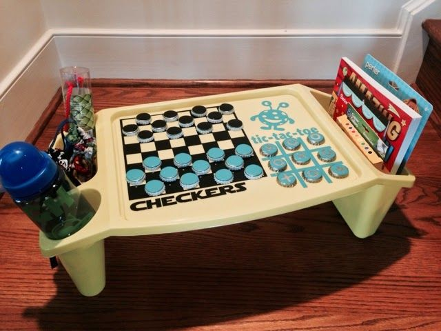 namesake design: Game Tray for Kids made with the Silhouette and Vinyl - a fun gift idea too!