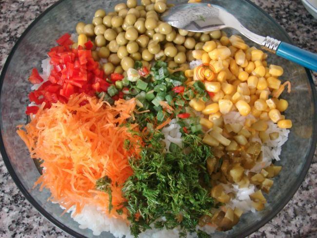 Çin Salatası (Pirinç Salatası) Resmi