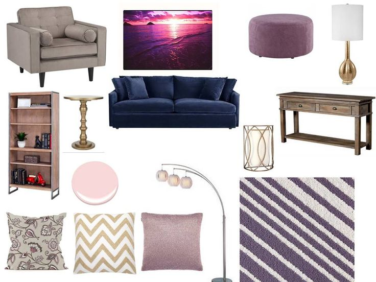 navy, purple, gold, pink - glam! Interior decorating. home decor. home decoration. home styling. e-decor