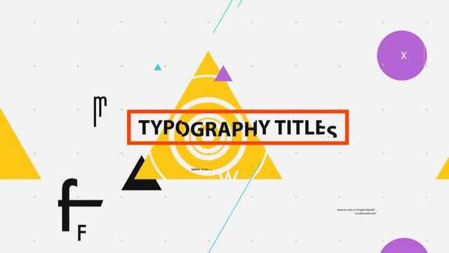 You can buy this template: http://videohive.net/item/typography-titles/8390342 This is fully customizable, clean and glitch typography titles. It gives you a full freedom for your ideas, you can type your title names, change colors for all scenes with one click and use your own photos. Enjoy;) Audio: http://tinyurl.com/ncld5ez