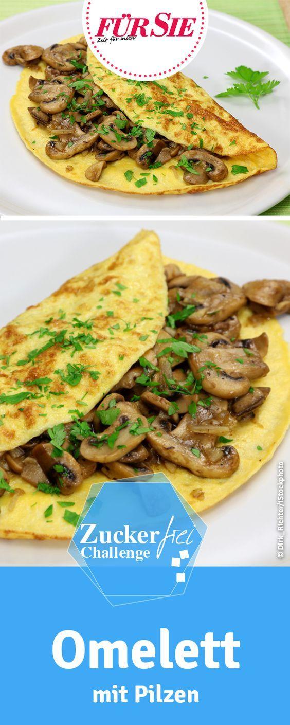 zuckerfreies Rezept für Omelett mit Pilzen - zuckerfrei Challenge 40 Tage ohne Zucker