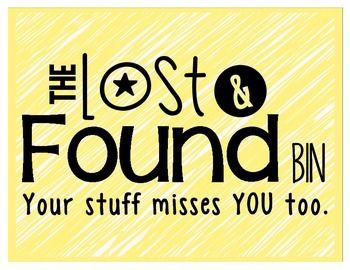 lost and found 2 essay Lost & found information log and protocol it is our responsibility as lab staff to ensure that if someone loses an item that has some form of identifiable information on it, we've done everything possible to see that it is returned to.