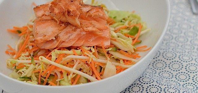 Oosterse salade met zalm - Uit Paulines Keuken