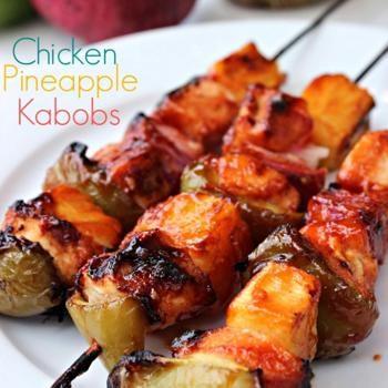 Chicken Pineapple Kabobs Recipe - Daily Leisure & ZipList