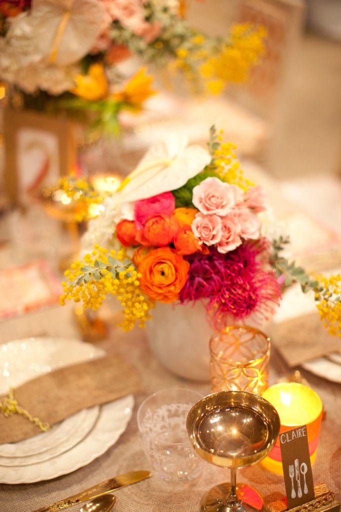 beautiful flower arrangement + white vase