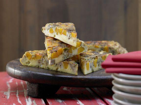 Savory Pumpkin Pancake with Mushrooms and Sage   Eat Smarter